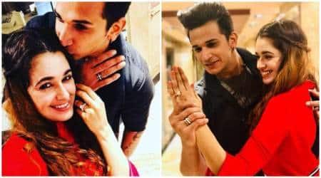 Prince Narula Yuvika Chaudhary engaged