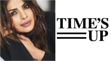 Priyanka Chopra joins the Time's Up movement through social media; posts picture in black