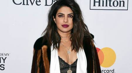 Priyanka Chopra looks straight off the runway in her sultry outfit at the Pre-Grammy Gala