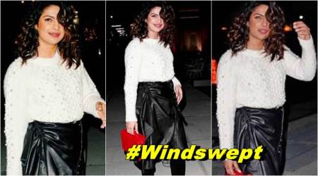 Priyanka Chopra, Priyanka Chopra latest photos, Priyanka Chopra fashion, Priyanka Chopra street style, Priyanka Chopra leather skirt