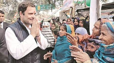 Protests mar Rahul's Amethi trip, Congress alleges BJP hand