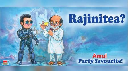 rajinikanth, rajinikanth amul cartoon, rajinikanth social media