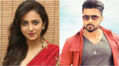 Suriya resumes shooting for NGK, Rakul Preet joins set