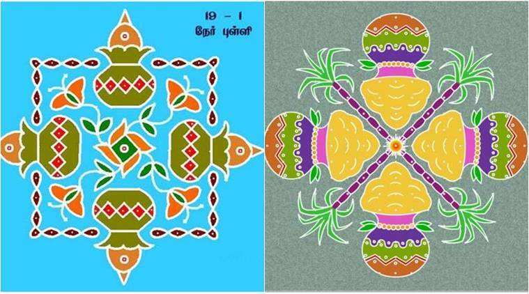 pongal 2018  beautiful kolam and rangoli designs to