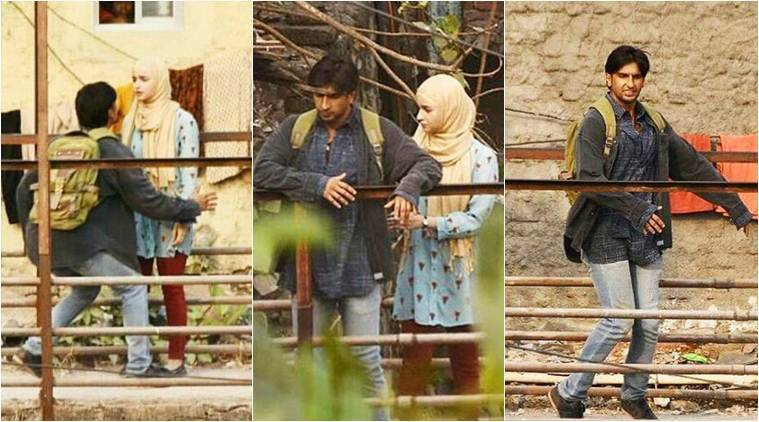 ranveer singh and alia bhatt on gully boy sets
