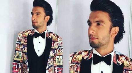 Ranveer Singh's quirky ode to 1980s-90s cult movies with this bespoke suit at Filmfare Awards 2018