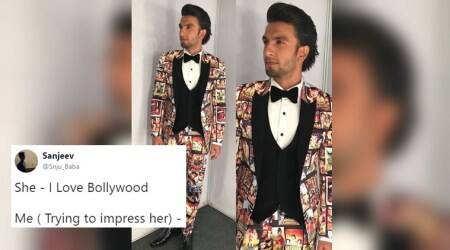 Ranveer Singh's 'ode to Bollywood' outfit at Filmfare Awards function becomes a hit meme on the Internet