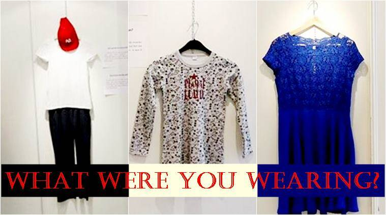 what were you wearing exhibition, Brussels exhibition on rape survivors, what rape survivors wore exhibition, myths around sexual assault, sexual harassment, exhibition breaking myths, Brussels sexual harassment exhibition, Indian express, Indian express news