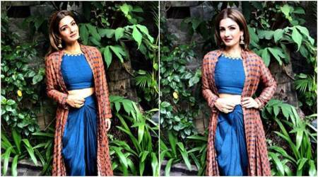 Raveena Tandon's fusion outfit is perfect for a mehendi function; see pics