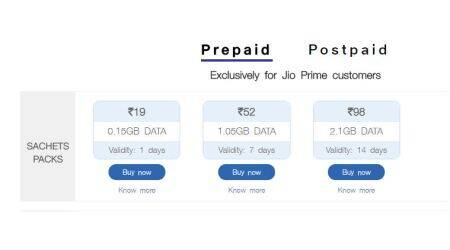 Reliance Jio's Sachet Packs: The complete list of recharge plans under Rs 100
