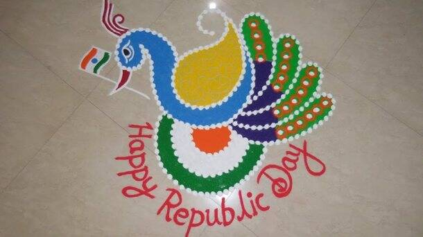 republic day, republic day rangoli design, republic day rangoli, republic day rangoli, republic day celebration, republic day in india, indian express, indian express news