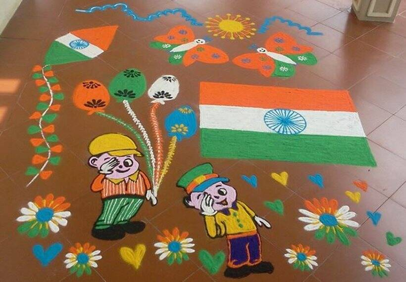 republic day, republic day rangoli design, republic day rangoli, republic day rangoli, republic day celebration, republic day in india, indian express, indian express news