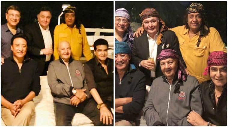 Rishi Kapoor, Jeetendra, Paintal, Ranjeet, Prem Chopra and Danny Denzongpa reunion
