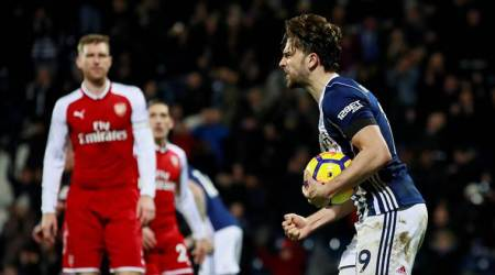 West Bromwich Albion forward Jay Rodriguez