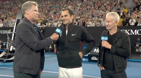 VIDEO: Roger Federer faces some REALLY TOUGH questions from WillFerrell