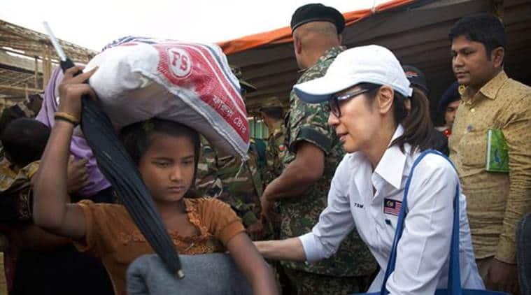 Rohingya, Muslim Rohingya, Hollywood star Michelle Yeoh, Michelle Yeoh, Yeoh, World News, Latest World News, Indian Express, Indian Express News