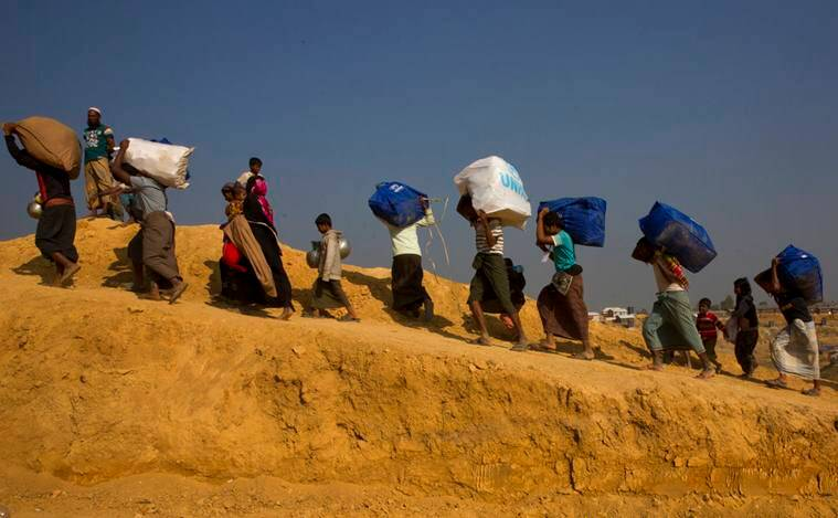 myanmar, rohingya family returns, united nations, un, rohingya muslims, rohingya refugees, rakhine state, indian express