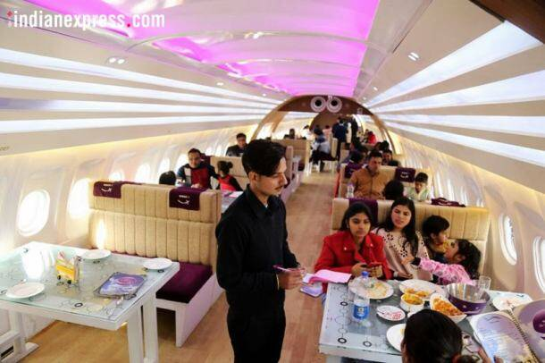 airplane turned restaurant, grounded aeroplane, aeroplane restaurant chandigarh highway, aeroplane restaurant nh 1, indian express, indian express news