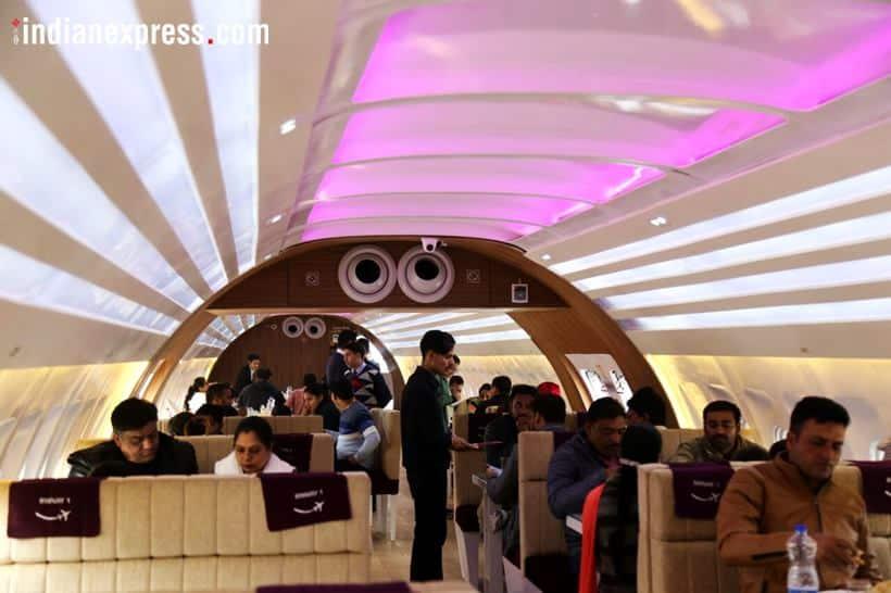 airplane turned restaurant, grounded aeroplane, aeroplane restaurant chandigarh highway, aeroplane restaurant nh 1, indian express, indian express news
