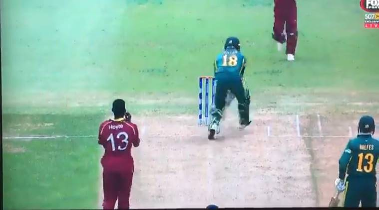 icc u19 world cup, obstructing the field rule, obstructing the field law, obstructing the field video, cricket controversy, cricket news, sports news