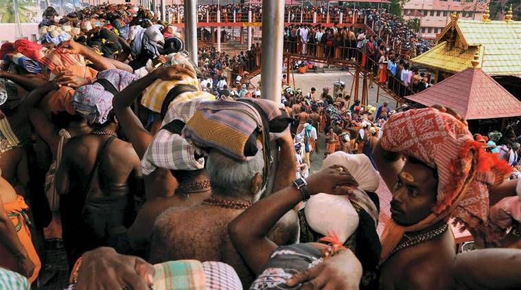 Sabarimala temple, sabarimala verdict, sabarimala protests, samarimala women entry, supreme court on Sabarimala, sabarimala temple women entry, Kerala, sabarimala review petition, india news