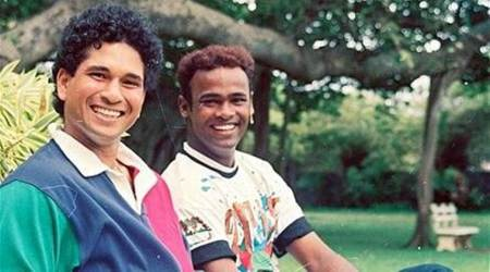 Sachin Tendulkar celebrates Vinod Kambli's birthday in Mumbai