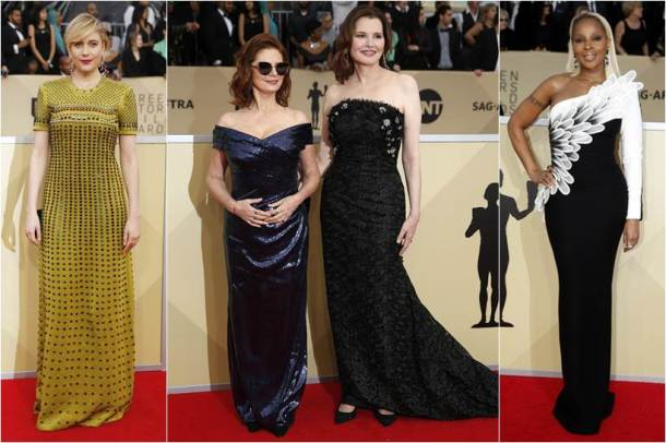 SAG Awards 2018, SAG Awards 2018 red carpet, Nicole Kidman, Kate Hudson, Yvonne Strahovski, Jackie Cruz, Greta Gerwig, Goldie Hawn, Allison Williams, hollywood fashion, celeb fashion, indian express, indian express news