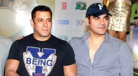Arbaaz Khan and Salman Khan in loveratri