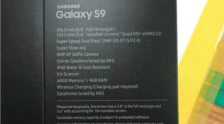 Galaxy S9, Samsung Galaxy S9, Galaxy S9 Plus, MWC 2018, Galaxy S9 release date, Galaxy S9 specifications, Samsung Galaxy S9 box leaked