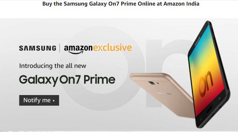 Galaxy On7 Prime, Samsung, Galaxy On7 Prime price in India, Samsung Galaxy On7 Prime Amazon, Galaxy On7 Prime Amazon India, Galaxy On7 Prime specifications