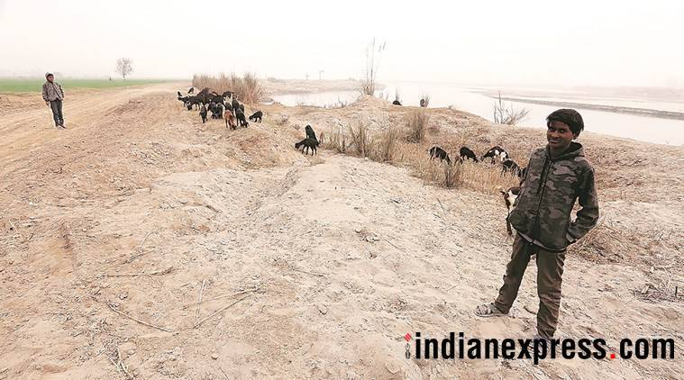 Uttar Pradesh illegal sand mining operation