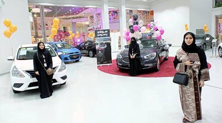 saudi women, jeddah, saudi arabia, women-only motorshow, indian express, le mall jeddah, gulf countries, conservative muslim countries, world news
