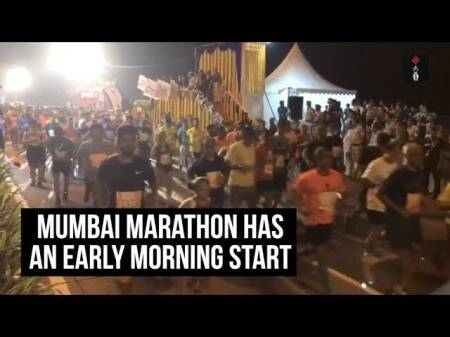 Mumbai Marathon Has An Early Morning Start