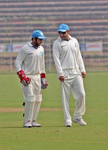 Virender Sehwag and Parthiv Patel.