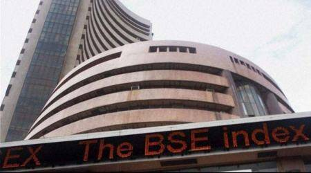 Sensex rises over 100 points, rupee sheds 15 paise against US dollar