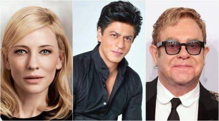 Shah Rukh Khan has a fan moment with Elton John and Cate Blanchett