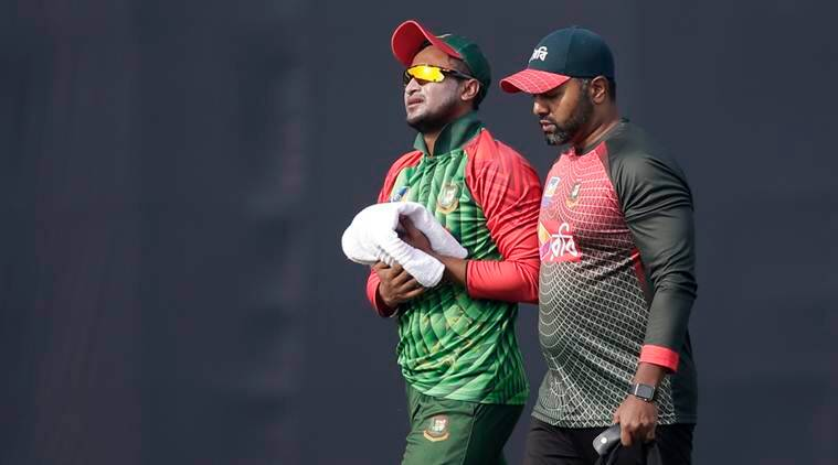 Shakib Al Hasan, Shakib Al Hasan injury, Shakib Al Hasan Bangladesh, Bangladesh Shakib Al Hasan, sports news, cricket, Indian Express