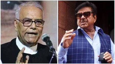 shatrughan sinha, yashwant sinha, telangana bjp, bjp leaders criticised, rashtra manch, krishna sagar rao, indian express, hyderabad, crossed all limits, bjp internal feud
