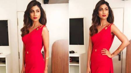Shilpa Shetty's blazing red jumpsuit is perfect for warding off winter blues