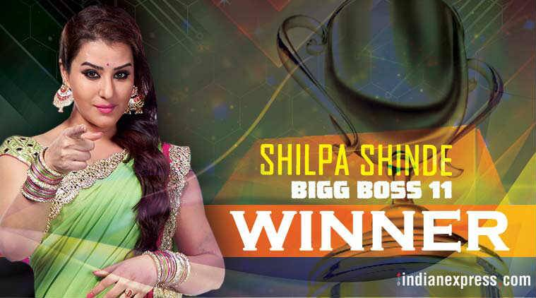 shilpa shinde, Bigg Boss winner, Bigg Boss 11 Winner, hina khan, who won bigg boss, Winner of Bigg Boss, who winner of bigg boss 11, shilpa shina bb11 winner, who is shilpa shinde, entertainment news, indian express