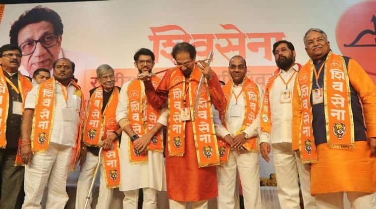 shiv sena, Aaditya Thackeray, uddhav thackeray, Shiv Sena's national executive meet, 2019 elections, Devendra fadnavis, indian express