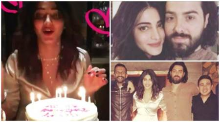 Shruti Haasan had a special birthday bash with rumoured beau Michael Corsale; see photos, video