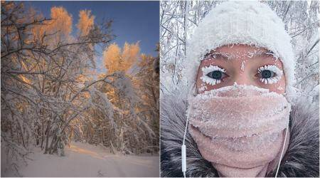 Ever seen frozen eyelashes? Photos of the coldest village with -62°C temperature will send shivers down your spine