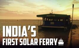 India's first solar ferry completes a year