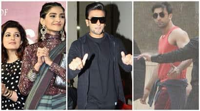 Sonam Kapoor Twinkle Khanna padman Ranveer singh Ranbir kapoor photo