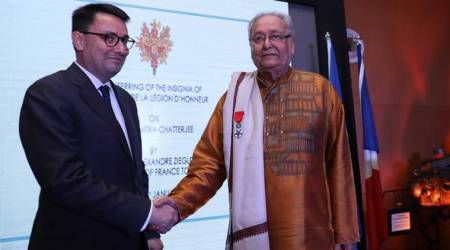 Veteran Bengali actor Soumitra Chatterjee receives the Legion of Honour
