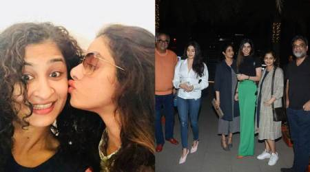 Janhvi Kapoor, Sridevi have a dinner date with PadMan director R Balki, Gauri Shinde. Are they planning a filmtogether?