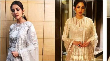 Anushka Sharma or Sridevi: Who wore the ivory embroidered ensemble better?