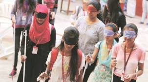 Students get a feel of hardships faced by visually challenged