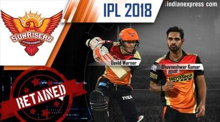 IPL 2018 player retention: SRH stick with specialists as they retain David Warner, Bhuvneshwar Kumar